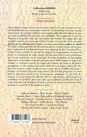 Corps Romains - 4ème de couverture - Format classique
