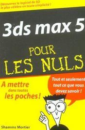 3ds max 5 pour les nuls - Intérieur - Format classique