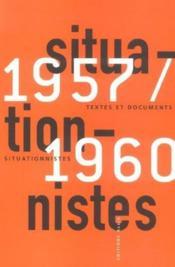 Textes et documents situationnistes ; 1957-1960 - Couverture - Format classique