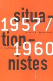 Textes et documents situationnistes ; 1957-1960 - Intérieur - Format classique