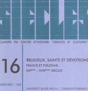 Siecles, N 16/2003. Religieux, Saints Et Devotions, France Et Pologn E, 13e-18e Siecles - Intérieur - Format classique