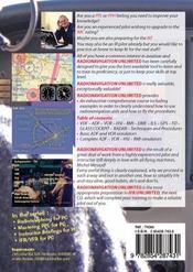 Radionavigation unlimited private and commercial pilots - cdrom (pc) en anglais - 4ème de couverture - Format classique