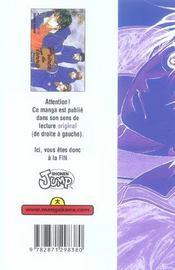 Prince du tennis t.5 - 4ème de couverture - Format classique