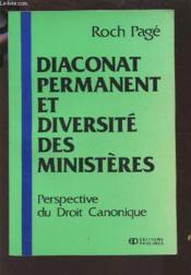 Diaconat permanent et diversite des m. - Couverture - Format classique