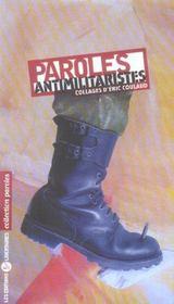 Paroles Antimilitaristes - Intérieur - Format classique
