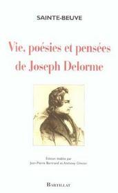 Vie. Poesies Et Pensees De Joseph Delorme - Intérieur - Format classique