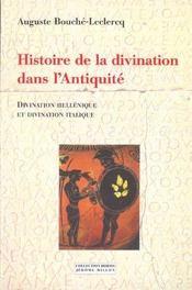 Histoire De La Divination Dans L'Antiquite - Intérieur - Format classique