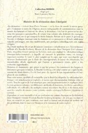 Histoire De La Divination Dans L'Antiquite - 4ème de couverture - Format classique