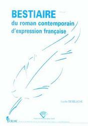 Bestiaire Du Roman Contemporain D'Expression Francaise - Intérieur - Format classique