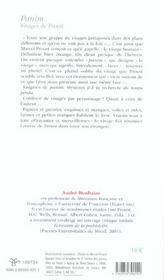 Panim Visages De Proust - 4ème de couverture - Format classique