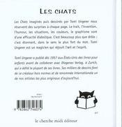 Les Chats - 4ème de couverture - Format classique