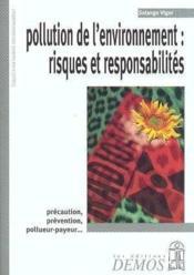 Pollution De L'Environnement : Risques Et Responsabilites - Couverture - Format classique