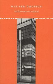 Architecture et société - Couverture - Format classique