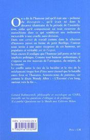 Le Sourire D'Isaac ; L'Humour Juif Comme Art De L'Esprit - 4ème de couverture - Format classique
