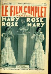 Le Film Complet Du Mardi N° 1560 - 13e Annee - Mary Rose Et Rose Mary - Couverture - Format classique