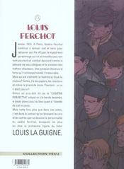 Louis Ferchot t.8 ; le déserteur - 4ème de couverture - Format classique