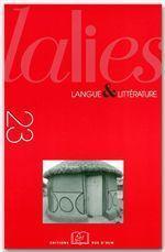Revue Lalies N.23 - Couverture - Format classique