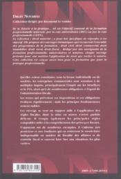 Fiscalite Des Affaires - 4ème de couverture - Format classique