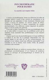 Psychotherapie Pour Dames ; Les Mariees Sont Toujours Belles - 4ème de couverture - Format classique