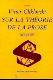 Sur La Theorie De La Prose - Couverture - Format classique