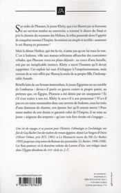 Les larmes d'isis t.2 ; les rois pasteurs - 4ème de couverture - Format classique
