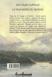 La Traversee Du Monde - 4ème de couverture - Format classique