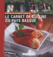 Le carnet de cuisine du pays basque - Couverture - Format classique