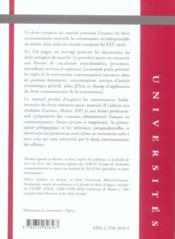 Droit Europeen Du Marche - 4ème de couverture - Format classique