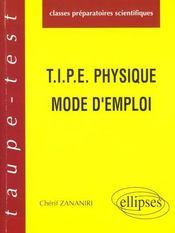 Tipe Physique Mode D'Emploi - Intérieur - Format classique