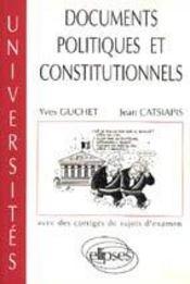 Documents Politiques Et Constitutionnels Avec Des Corriges De Sujets D'Examen - Intérieur - Format classique