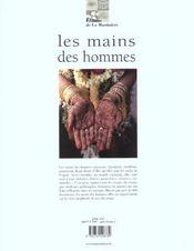 Les mains des hommes ; toucher, saisir, façonner - 4ème de couverture - Format classique