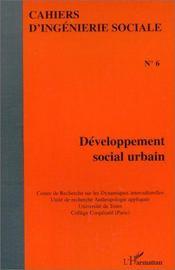 Developpement(Cahiers)Social Urbain - Couverture - Format classique