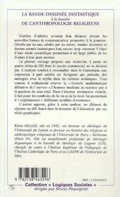 La Bande Dessinee Fantastique A La Lumiere De L'Anthropologie Religieuse - 4ème de couverture - Format classique