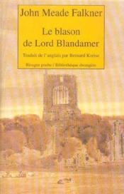 Le Blason De Lord Blandamer - Couverture - Format classique