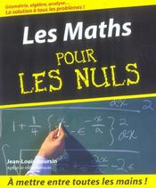 Les maths pour les nuls - Intérieur - Format classique