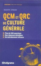 Qcm Et Qrc De Culture Generale - Intérieur - Format classique