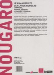 Les manuscrits de Claude Nougaro ; chansons, poèmes, dessins - 4ème de couverture - Format classique