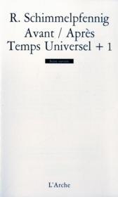 Avant/apres, temps univ+1 - Couverture - Format classique