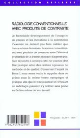 Imagerie Medicale T.2 ; Imagerie Traditionelle Avec Produits De Contraste - 4ème de couverture - Format classique