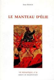 Manteau D'Elie - Couverture - Format classique