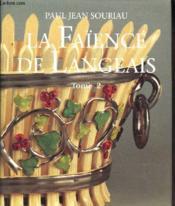 La faience de langeais - tome 2 - Couverture - Format classique
