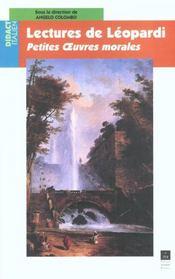 Lectures De Leopardi - Intérieur - Format classique