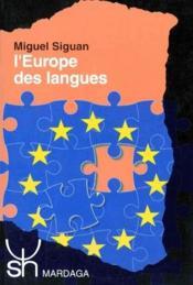 L'Europe des langues - Couverture - Format classique