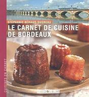 Le carnet de cuisine de bordeaux - Intérieur - Format classique