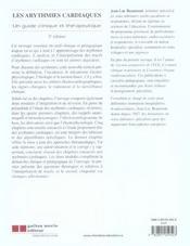 Les Arythmies Cardiaques (5eme Edition) - 4ème de couverture - Format classique