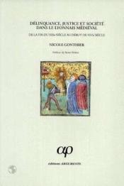 Delinquance, justice et societe dans le lyonnais medieval - Couverture - Format classique