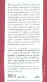 Derniers Jours De L'Humanite-Version Integrale - 4ème de couverture - Format classique