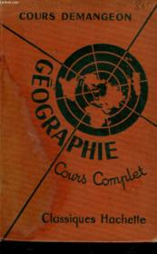 Geographie - Cours Complet - Couverture - Format classique