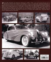 Delahaye, la belle carrosserie française - 4ème de couverture - Format classique