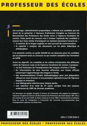 Les Epreuves D'Anglais Reussir Les Concours D'Entree Fonction Publique D'Etat Concours Externe - 4ème de couverture - Format classique
